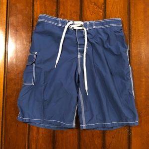 Old Navy Blue Swim Trunks